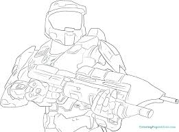 Halo Spartan Coloring Pages For Kids Reach Online Adults Free