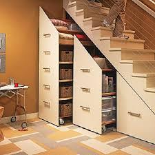 Smart Decoration with Under Stair Storage : Cool Under Stair Hidden Sliding  Storage