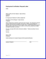 Request Employment Verification Letter Employment Verification Letter Sample Employment
