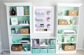 home office shelves ideas. Diy Craft Supply Storage Home Office Shelves Ideas