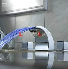 led bathroom faucet color changing led waterfall bathroom sink faucet wall mount
