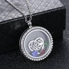 30mm chic silver floating locket charms love mom living memory pendant necklace