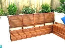 storage bench outdoors deck