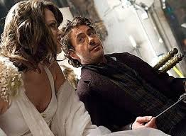"""Robert Downey Jr. chats with actress Amanda Grace Johnson, who played the  """"Young Woman Sacrifice"""" in the opening s… 