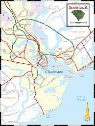 charleston sc map