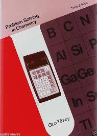 problem solving in chemistry by glen tilbury paperback rd  details about problem solving in chemistry by glen tilbury 1976 paperback 3rd edition