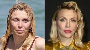 courtney love without and with makeup