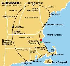 new england tour map