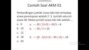 Contoh soal akm online sd smp sma (literasi dan numerasi). Akm 01 Numerasi Youtube