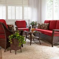 Lazy Boy Living Room Furniture Sets La Z Boy Outdoor Scarlett 4 Piece Seating Set In Red Sears