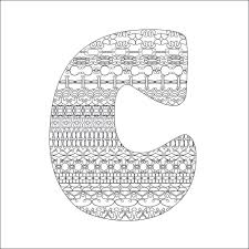 Letter C Adult Coloring Page Instant
