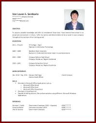 Resume Templates For College Students With No Work Experience Enchanting Resume Format Work Experience Digiart