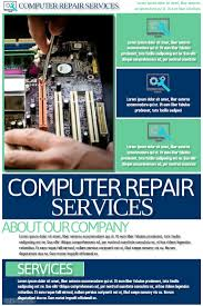 Computer Repair Flyer Template Inspiration Computer Repair Ad Trisamoorddinerco