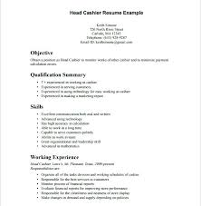 Supermarket Cashier Resume Simple Example Of Cashier Resume Download Sample Cashier Resume Supermarket