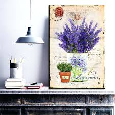 lavender wall art vintage purple lavender canvas painting scenery wall art poster oil picture for home lavender wall art
