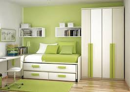 small space bedroom furniture. Casual Small Bedroom Decoration For Your Inspiration : Interesting Green Using Light Space Furniture A