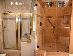 Remodel Bathroom Shower Shower Remodel With Arched Niches Collins Tile And Stone