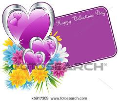 Pictures Of Hearts And Flowers Valentine Purple Hearts And Flowers Clip Art K5917309