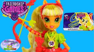my little pony equestria s friendship games applejack wondercolts doll review setc