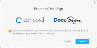 Export To Docusign Concord Support Center