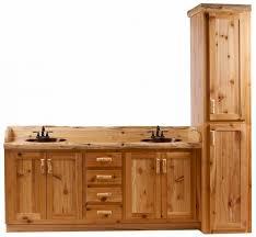 furniture natural oak wood bath vanity combo using black