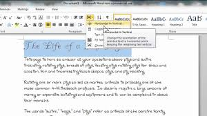 how to rotate your text vertically in microsoft word 2010