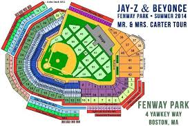 Fenway Concert Seating Chart With Seat Numbers Jay Z And Beyonce Fenway Park Tickets Throughout Fenway Park