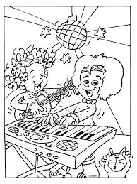 Kleurplaat Meiden Maken Muziek Kleurplatennl