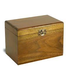 wooden index card box walnut wood recipe card box made in master vintage wood index card