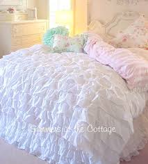 french white ruffles king comforter with ruffled pillow shams ruffle duvet pillows and blue ruffled comforter