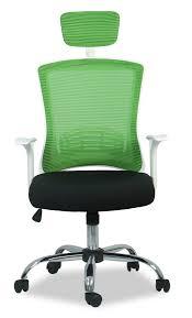 white frame office chair. Alexandra Executive Office Chair (White Frame + Green Mesh) White