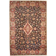 persian hand knotted 1960s semi antique isfahan wool rug