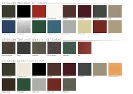 Weather Color Chart Premier Legacy Metal Roofing And Siding Premier Metals