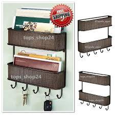 office key holder. Letter Bill Key Rack Organizer Wall Mount 2 Tier Mail Holder Home Office Storage #InterDesign #2TierMailandKeyRack L