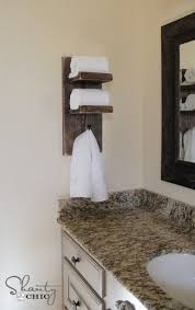 hand towel holder ideas. Beautiful Holder Bathroom Towel Hook DIY Really Like Bc If When We Have Longterm Guests  Can Put A Little Display Of Travel Size Toiletries For Them To Hand Holder Ideas