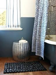 pebble bath rug black pebble bath mat pebble collection bath rug