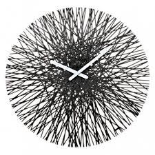 <b>Часы настенные Silk</b> чёрные, Koziol купить в интернет магазине ...