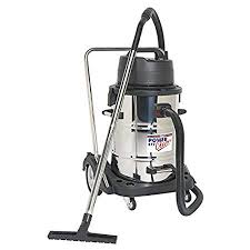 sealey pc477 industrial wet dry vacuum cleaner 77ltr stainless drum 2400w 230v swivel drum