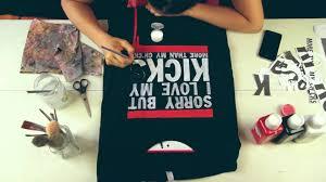 diy custom hand painted t shirt by khacijay sorry but i love my kicks more than my ch cks you