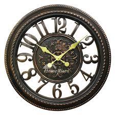gear wall clock glass industrial