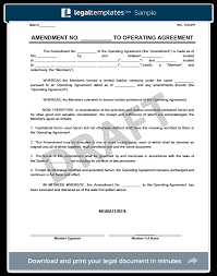 template for llc operating agreement amendment to an llc operating agreement create download