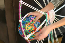 you want to pull the finger knitting so that its snug but don t pull it tight or it will make the rug gap and pucker
