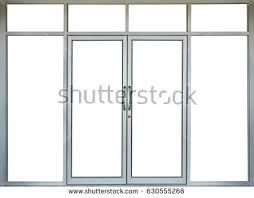 building glass door. glass door of building with copy space