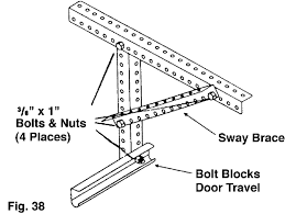 garage door brace. Typically The Material Supplied With Garage Door Openers Is Light Weight, Flimsy And Just Not Adequate To Properly Fasten Opener Brace