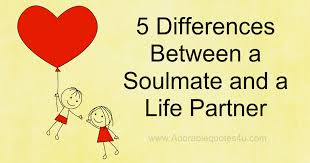 Life Partner Quotes Fascinating Adorable Quotes 48 Differences Between A Soulmate And A Life Partner