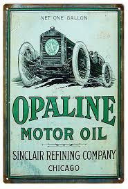 sinclair opaline motor oil aged