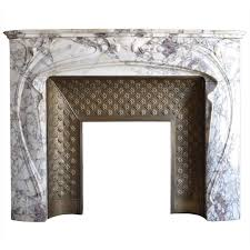 french art nouveau period marble fireplace