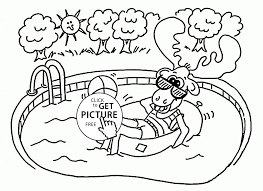 Small Picture Happy Moose in the Pool coloring page for kids summer coloring