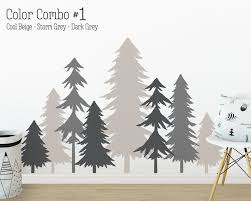 pine tree forest wall decals 3 color tree decals forest image