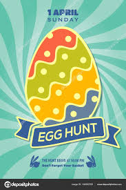 easter egg hunt template easter egg hunt poster invitation leaflet template design vector